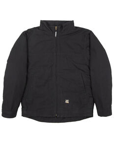 Berne Men's Black Flagstone Duck Flannel Work Jacket , Black, hi-res