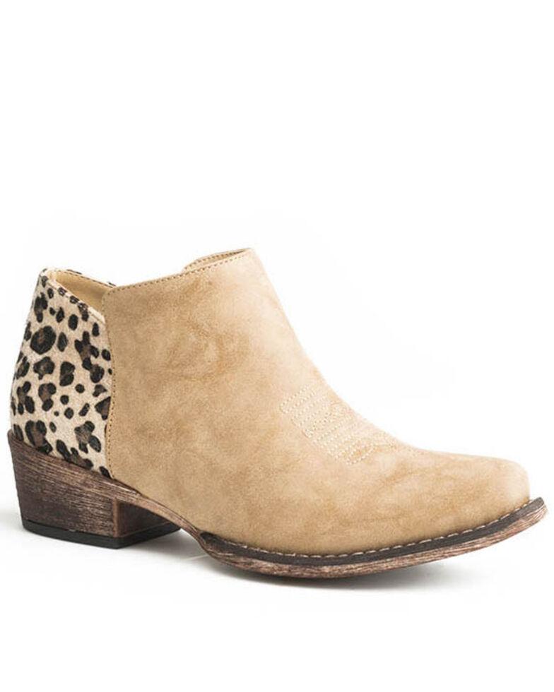 Roper Women's Sedona Fashion Booties - Snip Toe, Tan, hi-res