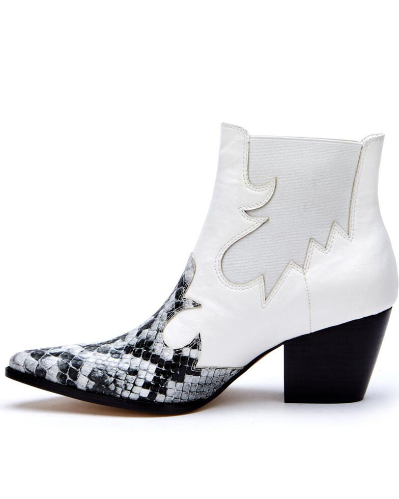 Coconuts by Matisse Women's Defy Fashion Booties - Pointed Toe, White, hi-res