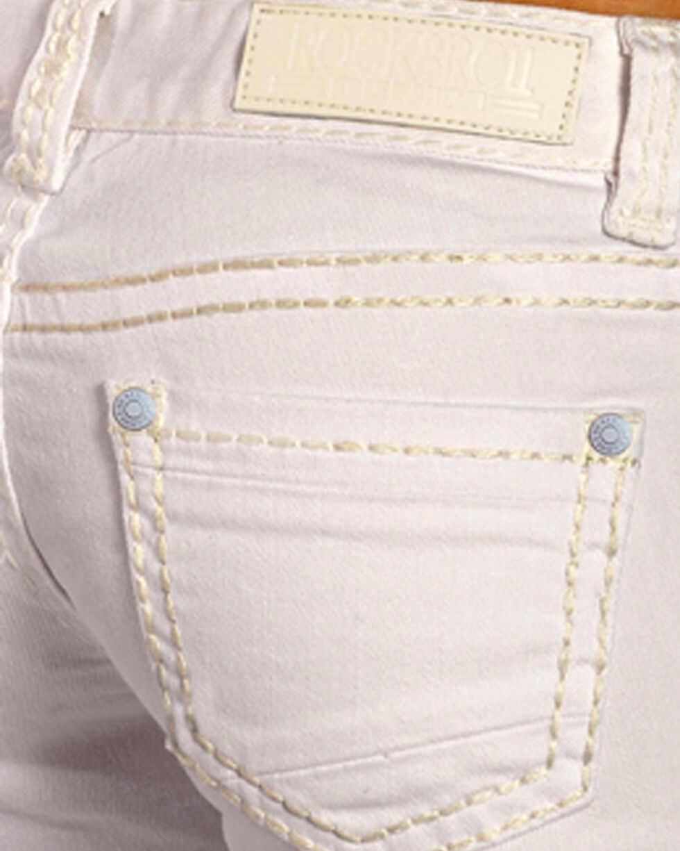 Rock & Roll Cowgirl Women's White Denim Riding Jeans - Boot Cut, White, hi-res