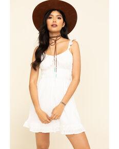 ILLA ILLA Women's Off White Eyelet Dress, White, hi-res