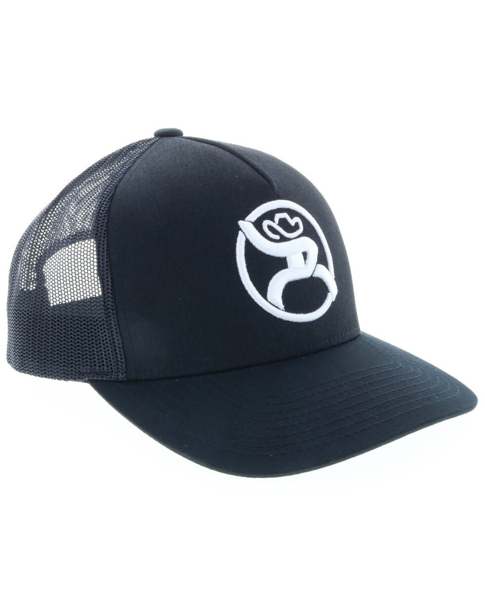HOOey Men's Black Roughy 2.0 Trucker Cap, Black, hi-res