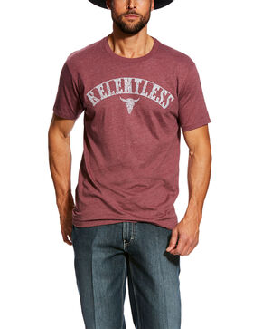 Ariat Men's Relentless Marked Graphic T-Shirt , Red, hi-res