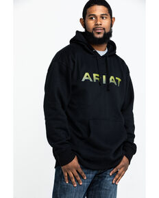 Ariat Men's Logo Pullover Hoodie , Black, hi-res