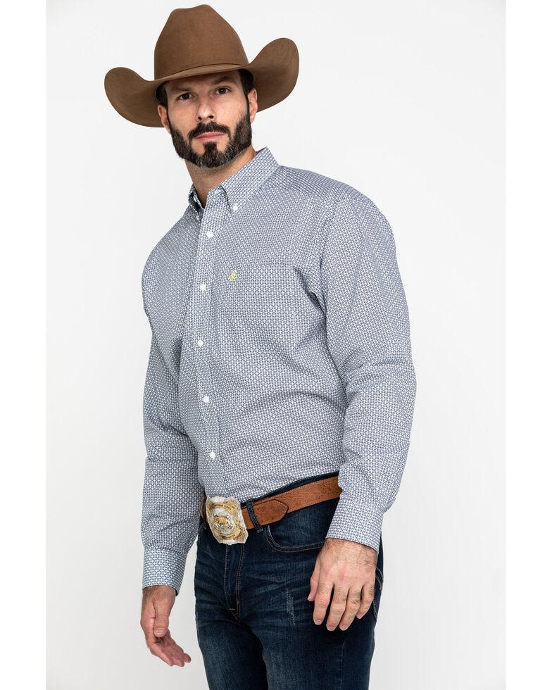 Ariat Men's Wrinkle Free Memphis Small Geo Print Long Sleeve Western Shirt - Big , Multi, hi-res