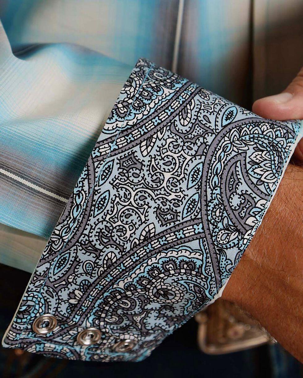 Stetson Men's Plaid Western Long Sleeve Shirt, Blue, hi-res
