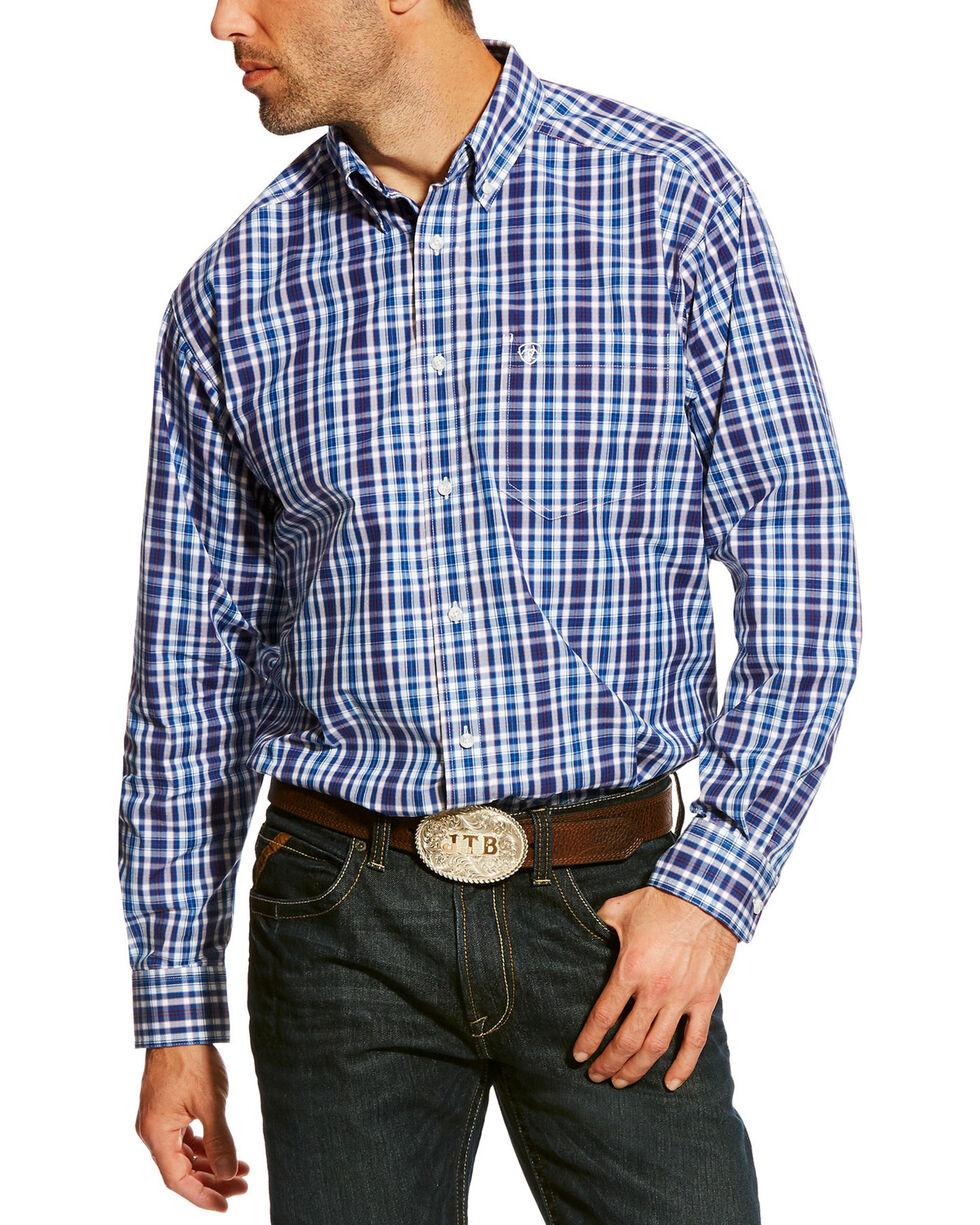 Ariat Men's Blue Abrahms Classic Fit Shirt - Big & Tall, Blue, hi-res