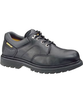 CAT Men's Ridgemont Steel Toe Work Shoes, Black, hi-res