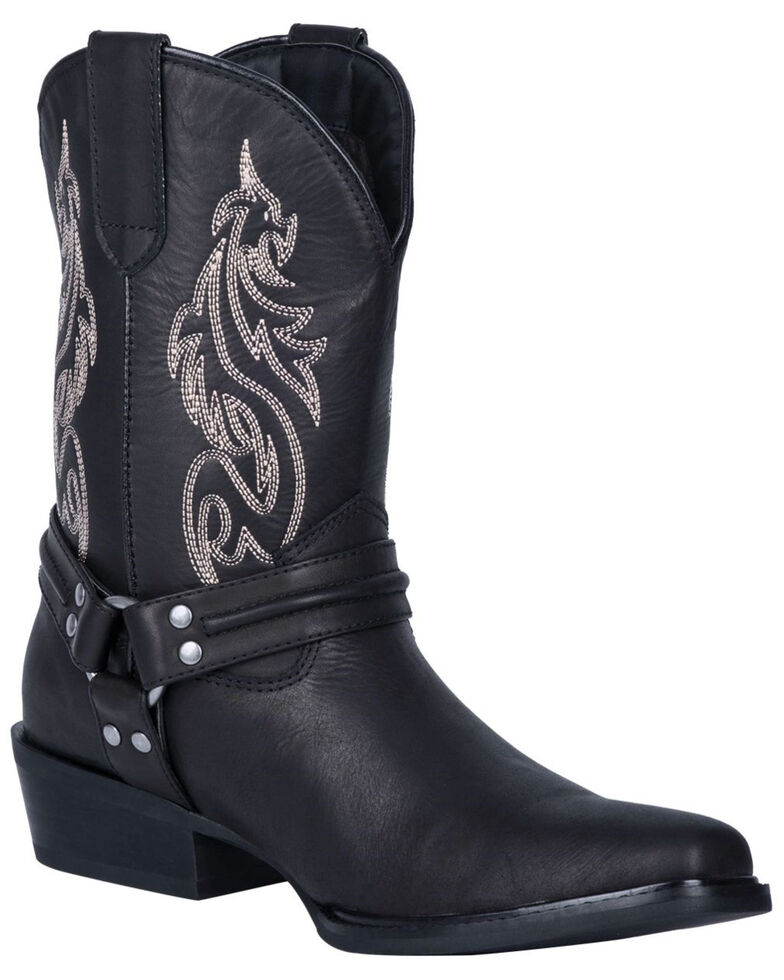 Dingo Men's Dragon Western Boots - Round Toe, Black, hi-res