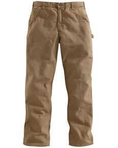 Carhartt Desert Washed Duck Dungaree Work Pants - Big & Tall, Desert, hi-res