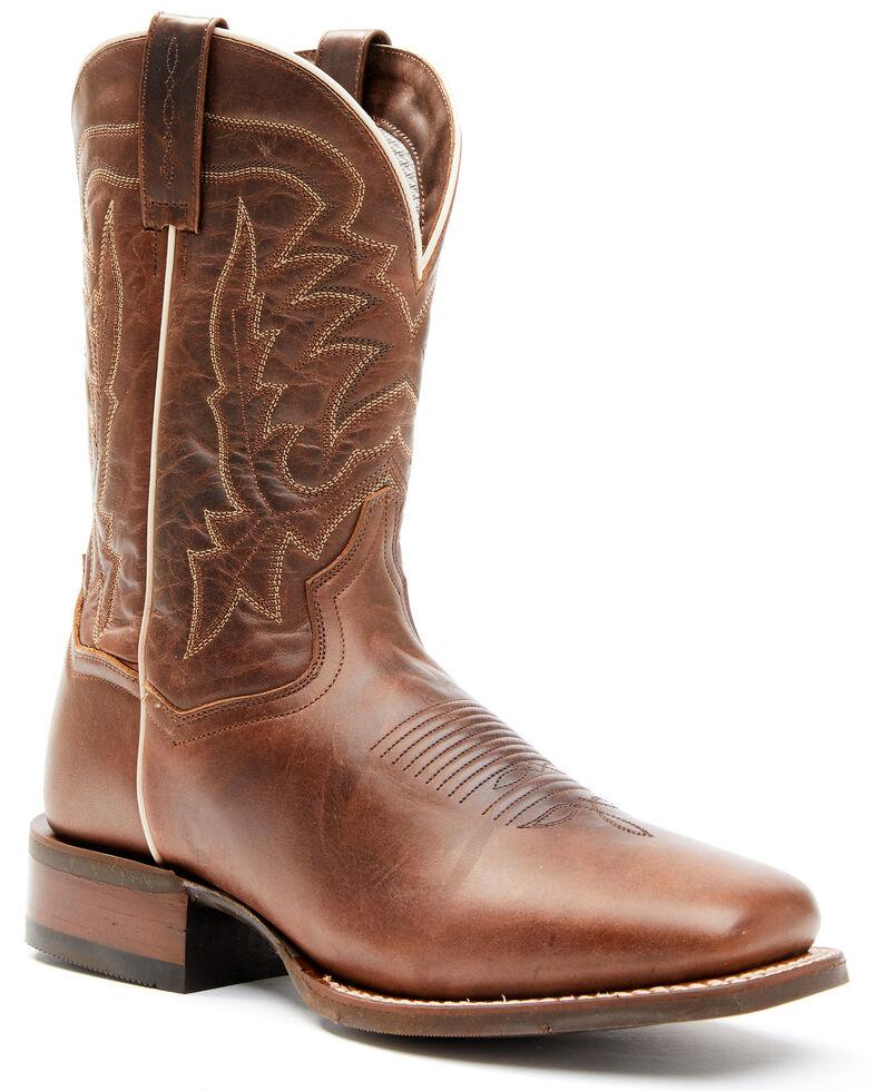 Dan Post Men's Dark Brown Western Boots - Wide Square Toe, Dark Brown, hi-res