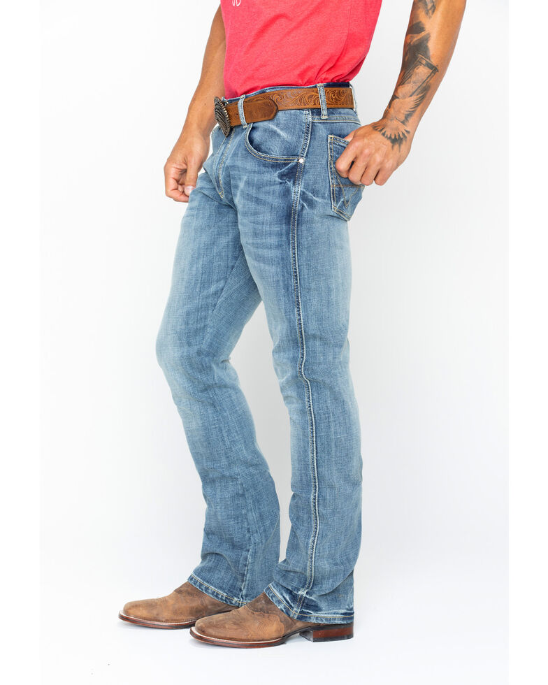 8d98bd16 Zoomed Image Wrangler Men's Retro Slim Fit Boot Cut Jeans , Blue, hi-res