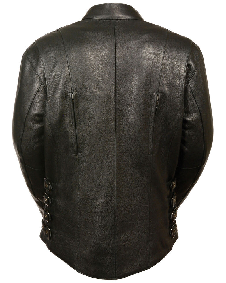 Milwaukee Leather Women's Side Buckle Racer Style Leather Jacket - 5X, Black, hi-res