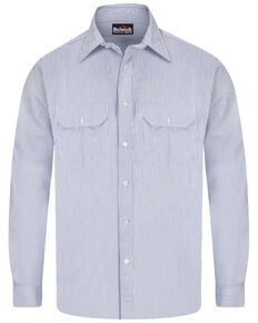 Bulwark Men's FR Mid-Weight Striped Long Sleeve Work Shirt - Big, Multi, hi-res