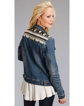 Roper Women's Aztec Yoke Denim Jacket, Indigo, hi-res