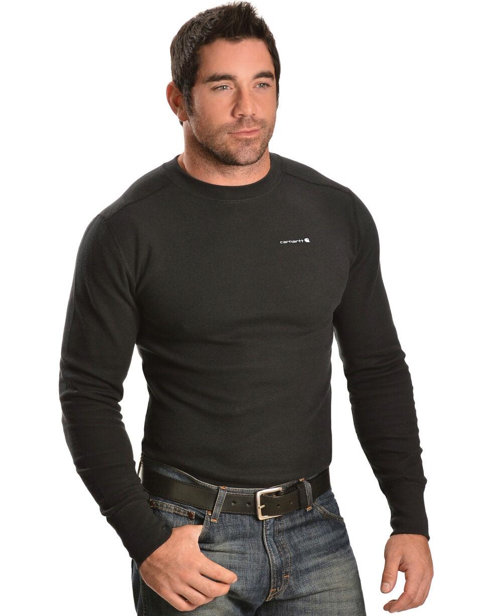 Carhartt Moisture-Wicking Thermal Under Shirt - Big & Tall, Black, hi-res