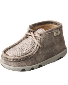 Twisted X Infant Boys' Chukka Driving Boots - Moc Toe, Grey, hi-res