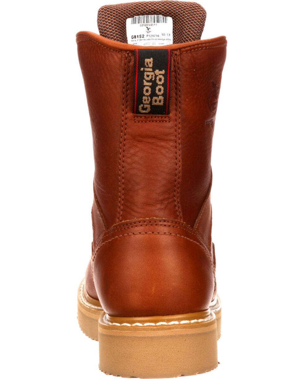 "Georgia Men's 8"" Steel Toe Work Boots, Brown, hi-res"