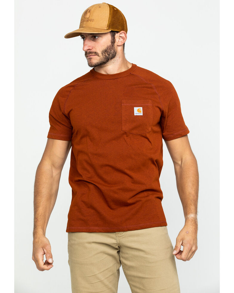 Carhartt Force Cotton Short Sleeve Shirt, Rust Copper, hi-res