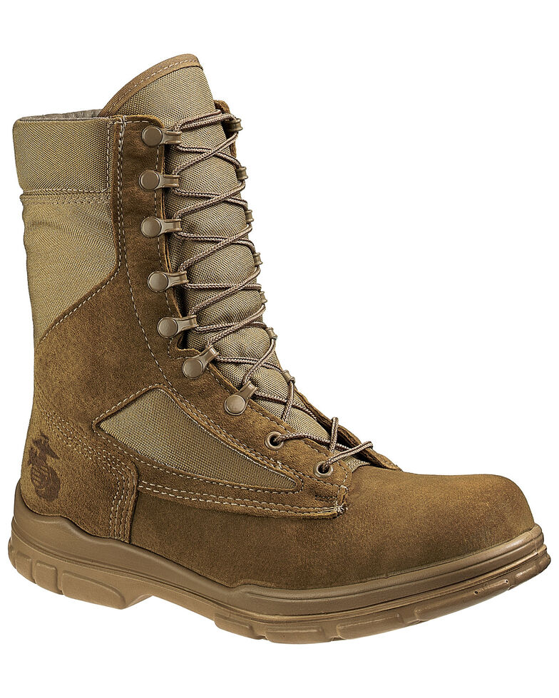Bates Men's USMC Lightweight Durashocks Boots - Soft Toe, Olive, hi-res