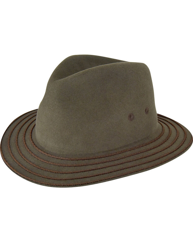 Bailey Men's Olive Browtine Hat , Olive, hi-res
