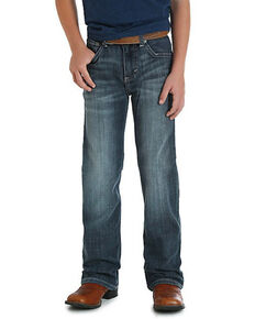 Wrangler 20X Boys' No.42 Glasgow Vintage Bootcut Jeans , Blue, hi-res