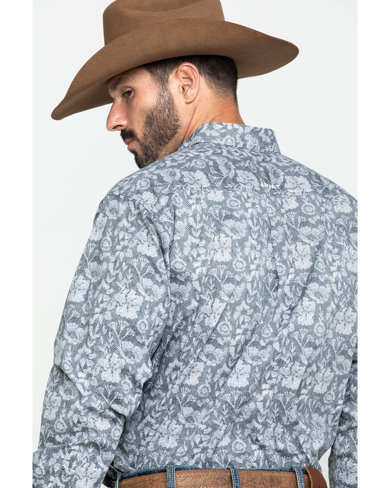 Ariat Men's Fayette Stretch Floral Print Long Sleeve Western Shirt - Big , Multi, hi-res