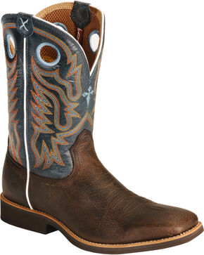 Twisted X Men's Calf Roper Western Boots, Chocolate, hi-res