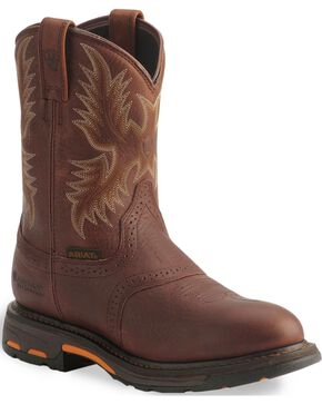 Ariat Men's Workhog H2O Composite Toe Western Work Boots, Copper, hi-res