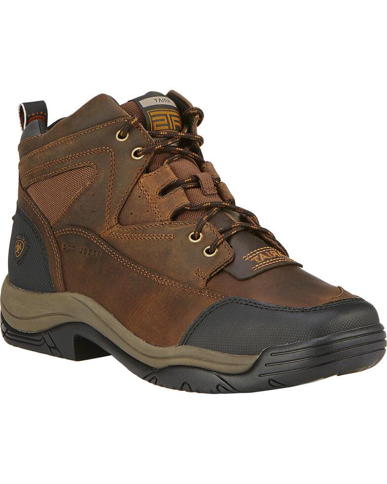 Ariat Men's Terrain Wide Square Steel Toe Endurance Boots, Brown, hi-res