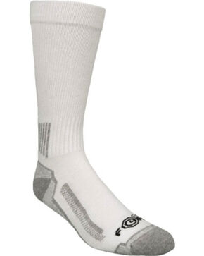Carhartt Force® White Performance Work Crew Socks - 3 Pack, White, hi-res