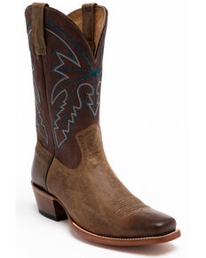 Cody James Men's Potrero Western Boots - Square Toe, Brown, hi-res