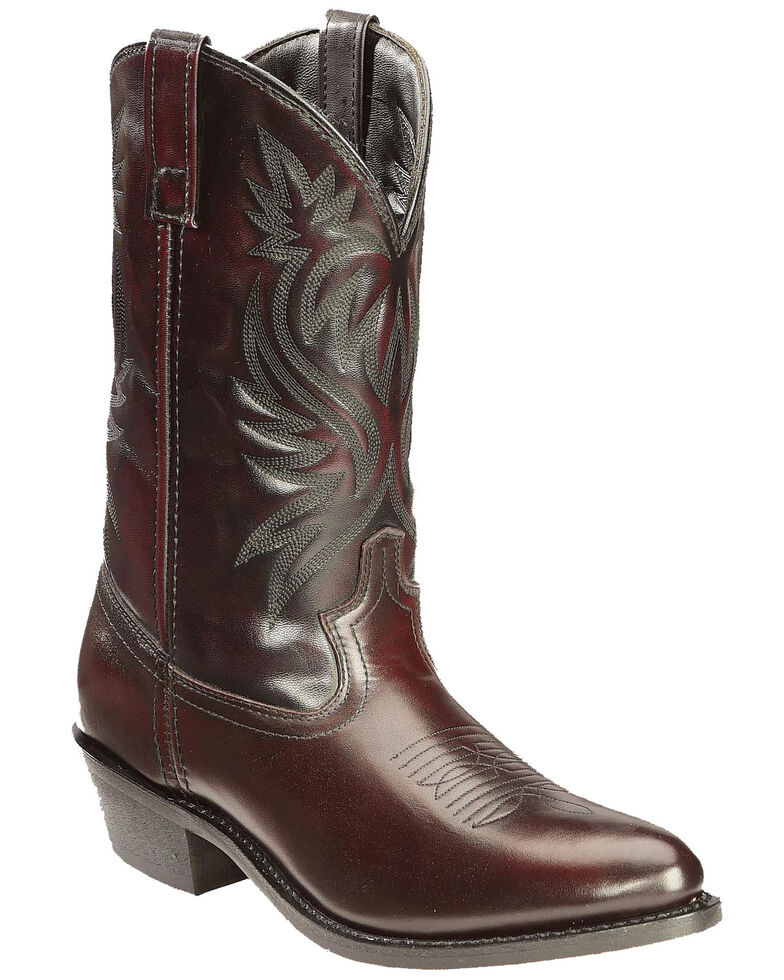 Laredo Men's London Western Boots - Round Toe, Black Cherry, hi-res