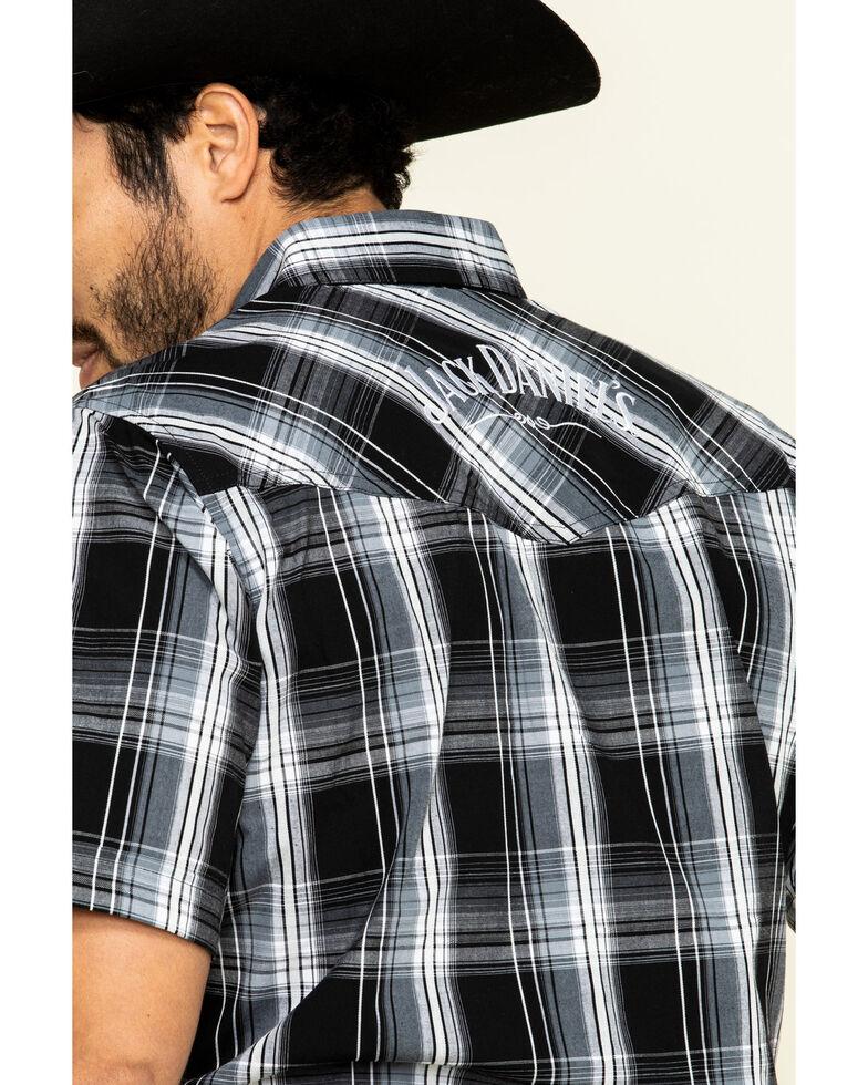Jack Daniel's Men's Black Med Plaid Short Sleeve Western Shirt , , hi-res