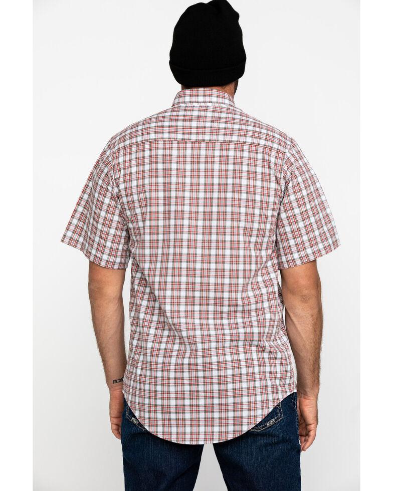 Wrangler Riggs Men's Rust Plaid Short Sleeve Work Shirt - Big , White, hi-res