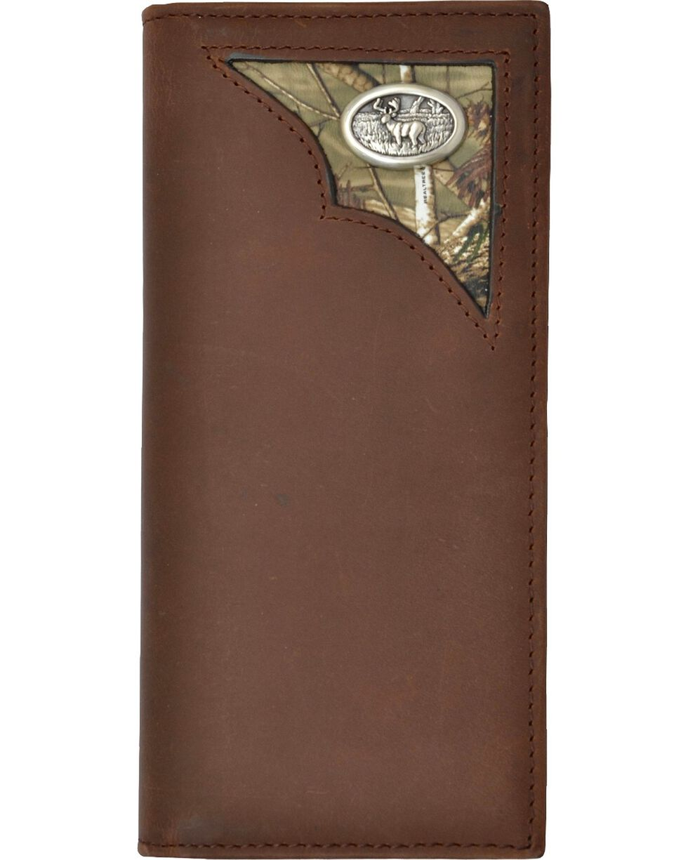 3D Men's Camo and Leather Rodeo Wallet, Multi, hi-res