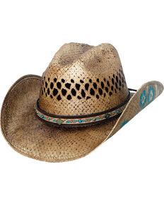 fba964d992111a Bullhide Women's Natural Have A Little Faith Straw Hat
