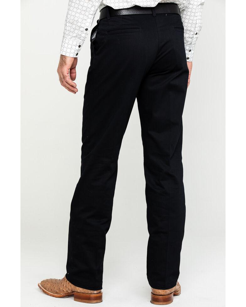 Wrangler Men's Black Casual Flat Front Western Pants , Black, hi-res