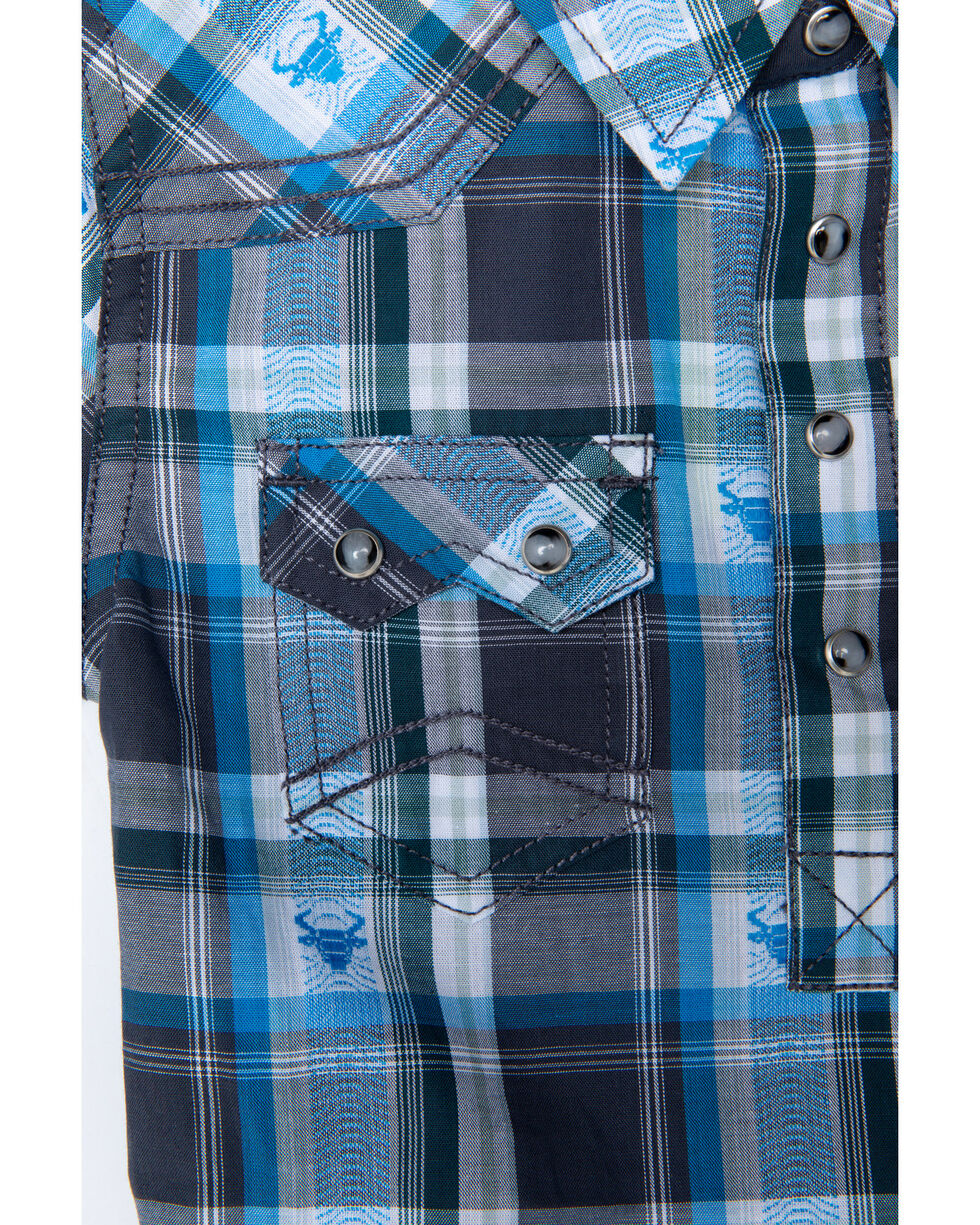 Cody James Infant Boys' Bushwacker 2.0 Sawtooth Long Sleeve Western Onesie , Blue, hi-res