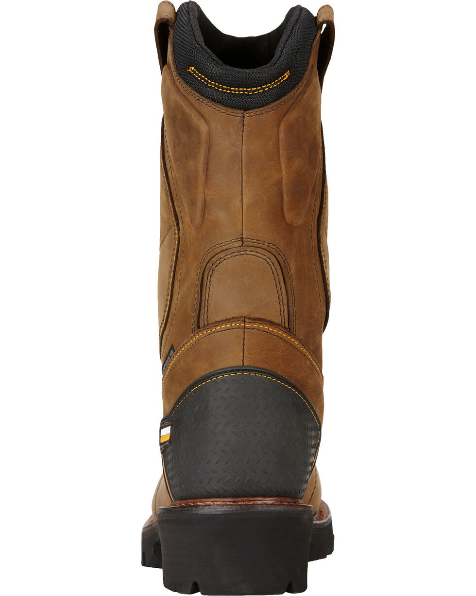 Ariat Men's Powerline Composite Toe Insulated Waterproof Work Boots, Brown, hi-res