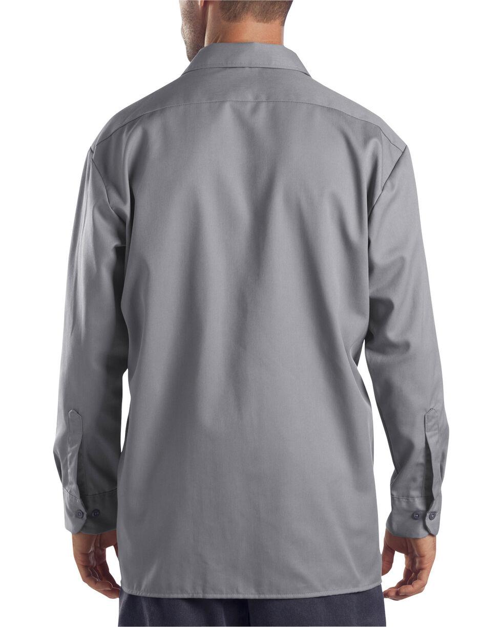 Dickies Twill Work Shirt, Silver, hi-res