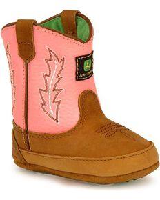 12b868dab278 John Deere Infant Boy s Johnny Popper Western Crib Boots