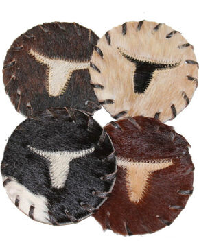 B.S. Trading Single Longhorn Coasters, No Color, hi-res