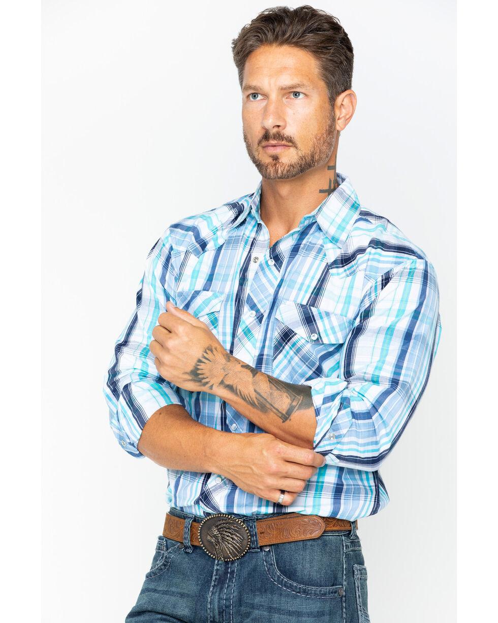 Resistol Men's Cold Spring Long Sleeve Snap Shirt, Blue, hi-res