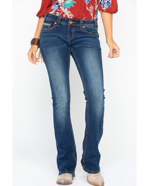 Rock & Roll Cowgirl Women's Rival Extra Stretch Jeans, Indigo, hi-res