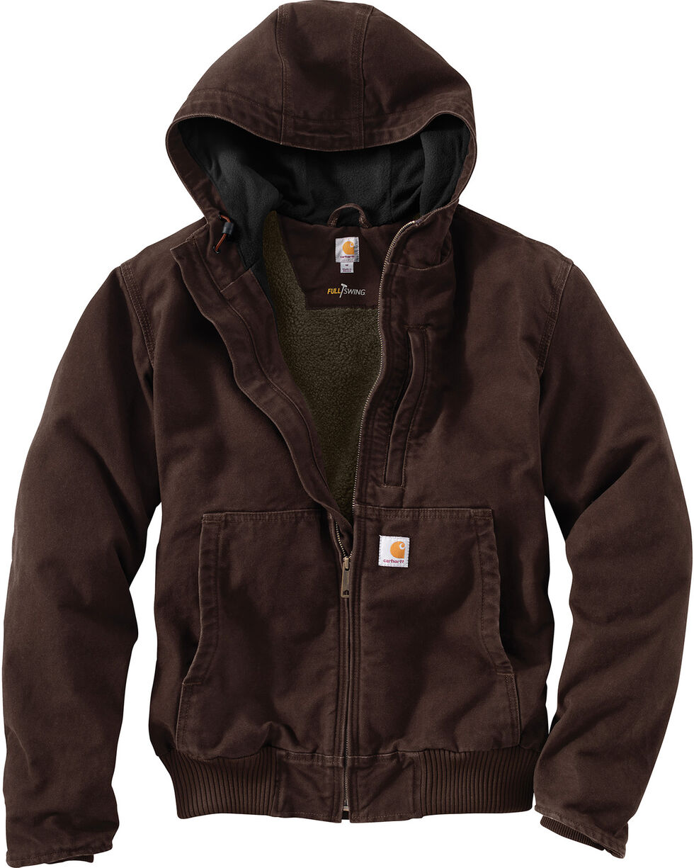 Carhartt Men's Dark Brown Full Swing Armstrong Active Jacket , Dark Brown, hi-res