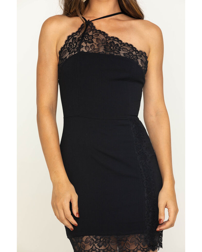 Free People Women's Premonitions Bodycon Dress, Black, hi-res