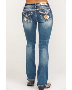 """Miss Me Women's Medium Wash Cowhide Blowout 32""""  Bootcut Jeans , Blue, hi-res"""