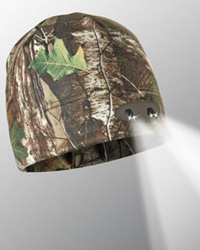 Panther Vision Men's Camo Headlamp Beanie , Camouflage, hi-res