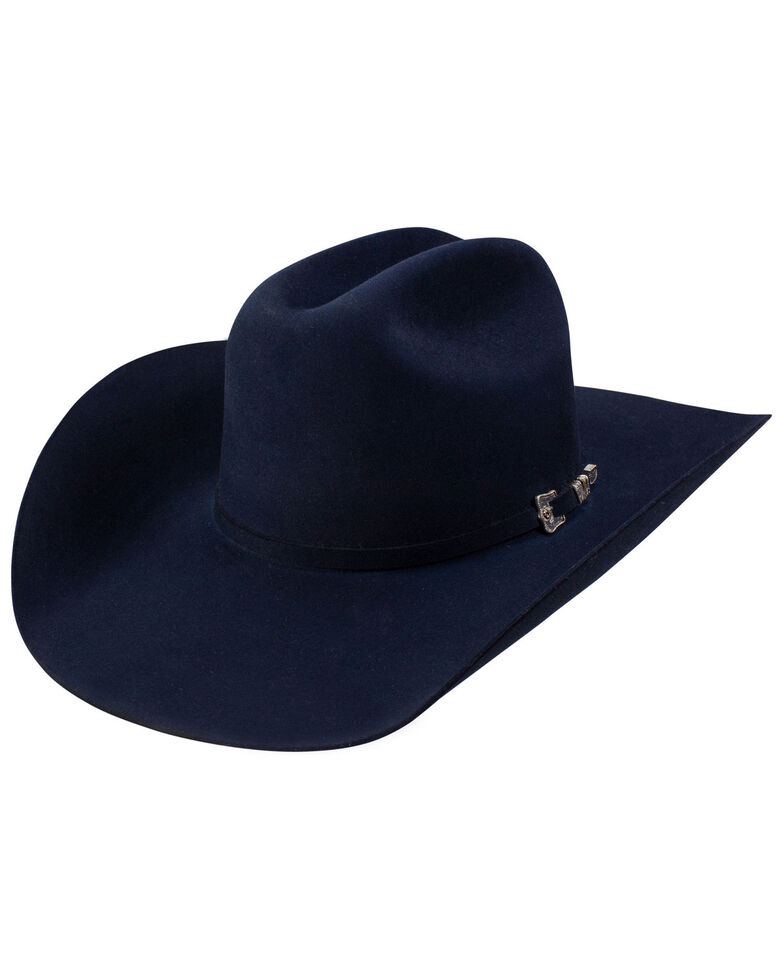 Resistol 30X Grand Navy Fur Felt Western Hat , Navy, hi-res